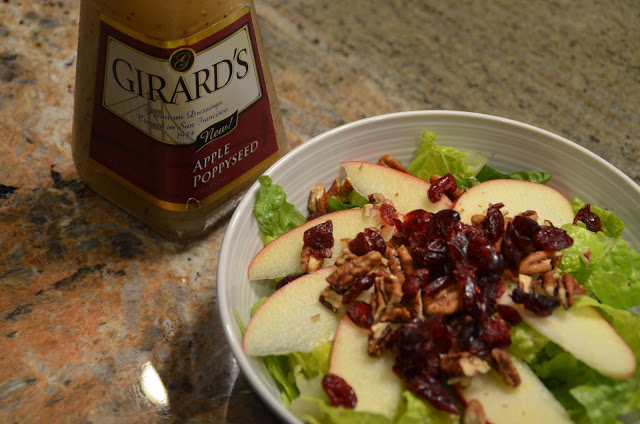 Pomegranate Craisins and Apple Pecan Salad