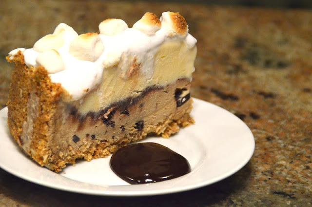 S'mores Coffee and Fudge Ice Cream Cake