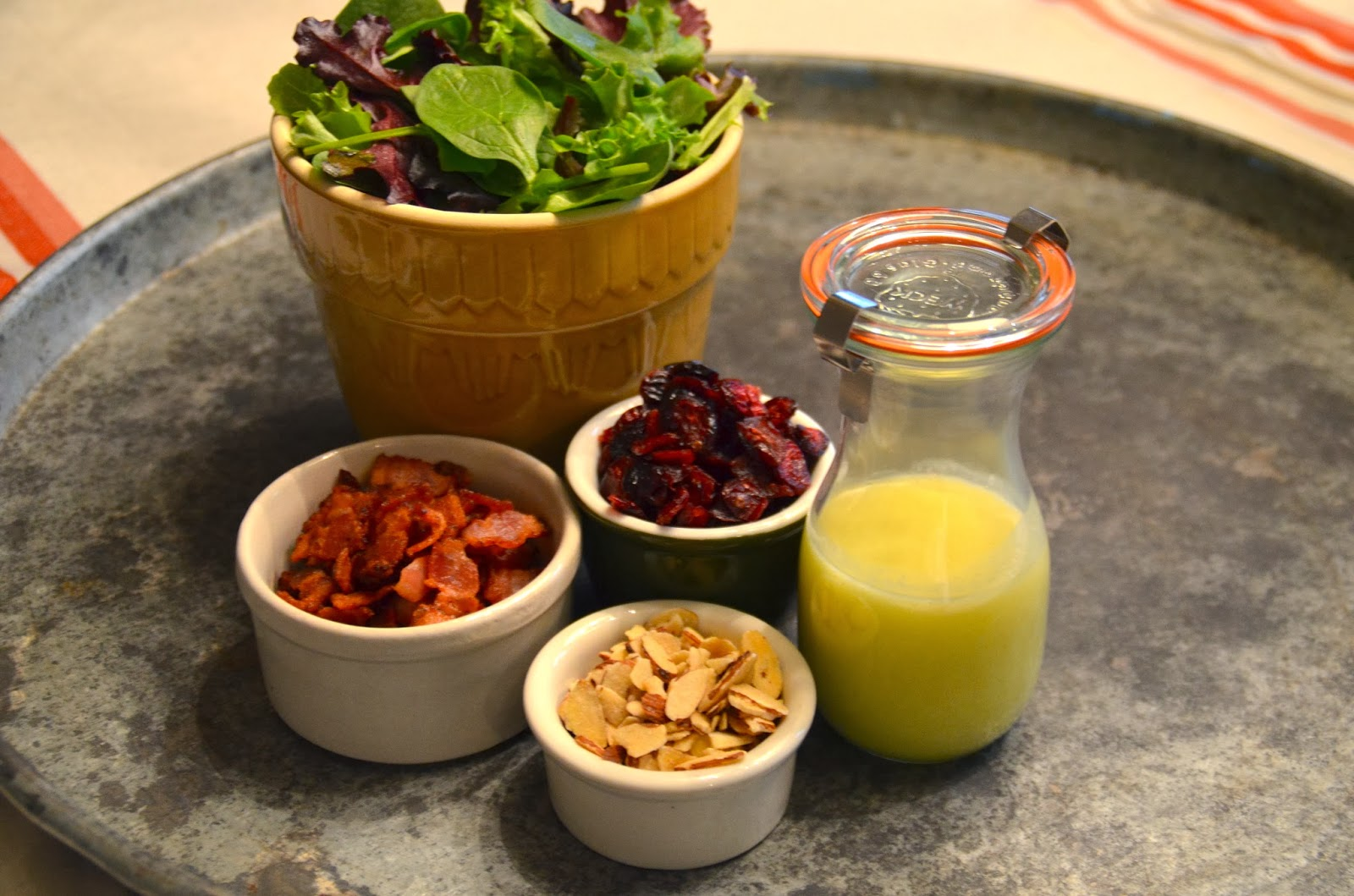 Almond Baby Greens Salad