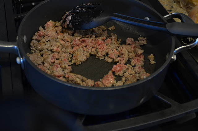 Skillet with Meat